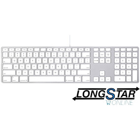 Teclado Apple Com Numerico Mb110be Keyboard Garantia