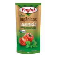 Molho De Tomate Orgânico Manjericão Fugini Sache 340 G