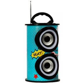 Caixa De Som Bluetooth 25w Trc Portátil - Trc 218c Azul