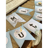 Banderines Personalidados Cumpleaños Bautismos