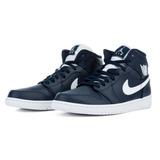 Tênis Nike Air Jordan 1 Mid Azul Escuro Masculino