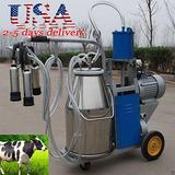 Nuevo Portátil Eléctrico Máquina De Ordeño Para Vacas Cubo