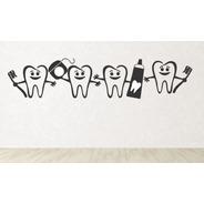Vinilos Decorativos Dentistas Odontología Muelas Consultorio