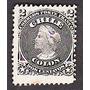 Estampilla Sello Antiguo 2 Centavos Negro Busto De Colon