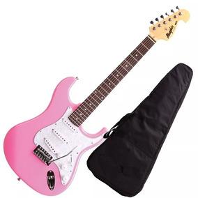 Guitarra Mod Fender Tagima Memphis Mg32 Cor Rosa Pink
