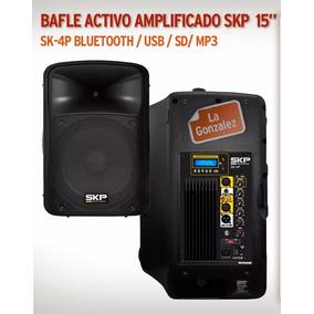 Bafle Activo Potenciado Skp Sk-4p 15 Usb Sd Bt 250w Rms