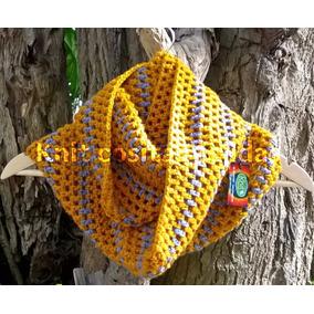 Cuellos (bufandas Infinitas) Tejidas Al Crochet