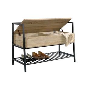 Zapatera de madera y aluminio con llantitas en mercado for Zapatera de aluminio