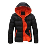 Campera Hombre Inflable Invierno Con Capucha Impermeable
