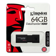 Memoria Usb Kingston Dt100 64gb Usb 3.0