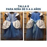 Disfraz Princesa Disney Bella Niña Talla 8 Niñas Halloween