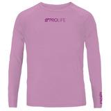 Camiseta Blusa Repelente Infantil Uv50+ Prolife Rosa 10 Anos