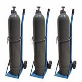 Carro Para Transportar Tubo Co2 Oxigen Helio Gas + De 20kg