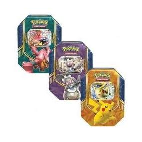 3 Latas Pokémon Batalha De Coração - Sol E Lua