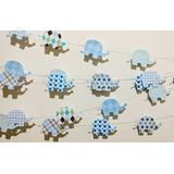 Deco Guirnaldas Baby Shower Primer Año Varon Set 2 De 1,50m