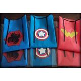 Capas Superheroes Batman Araña Hulk America Souvenir X 5