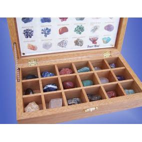 Colección De Piedras Semipreciosas En Fino Estuche De Banak