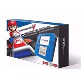 Nintendo 2ds Con Mario Kart 7 Azul Eléctrico