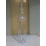 Botella Plastica 075 Y Tapas Doradas