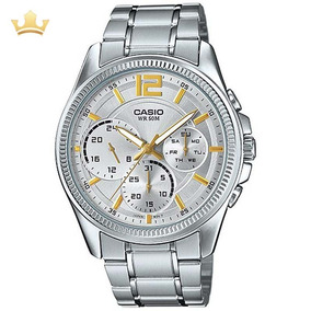 0ab0cdb1d57 Relógio Masculino Casio Mtp 1290d 7avdf - Relógios De Pulso no ...