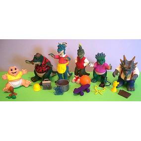 Familia Dinossauro Hasbro Disney 6 Bonecos Vintage 1993 Novo