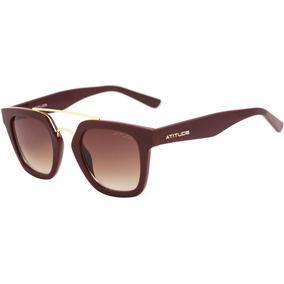 Atitude At 5315 - Óculos De Sol D01 Vinho E Dourado Brilho/