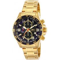 Reloj Invicta Cronografo 14878 45mm Acero Chapado En Oro