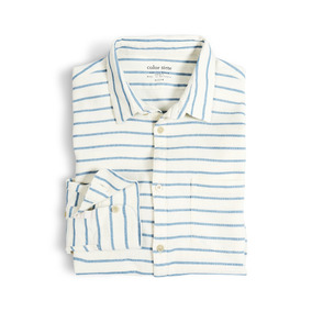 Camisa Manga Larga Leroy Color Siete Para Hombre - Beige