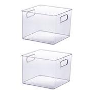 2 Organizador Para Dispensa Transparente Acrilico 900