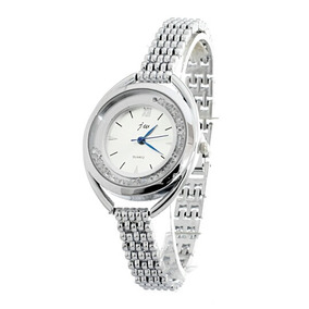 Reloj Para Dama Análogo, Metálico, Elegante Color Plateado
