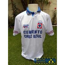 Jersey Cruz Azul 1994 Azul Sport Blanca Visita Hermosillo 27