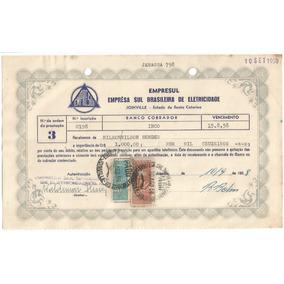 1958 Recibo Timbrado Empresa Sul Brasileira De Eletricidade