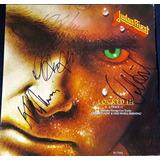 Disco Autografiado Judas Priest Vinyl Turbo Halford Downing