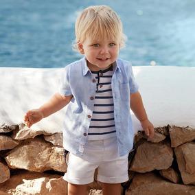 Camisa Mayoral Bebé Doble En 9 18 Y 24 Meses