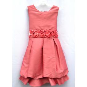 Vestido De Fiesta Niña Talla 12 Años Coral