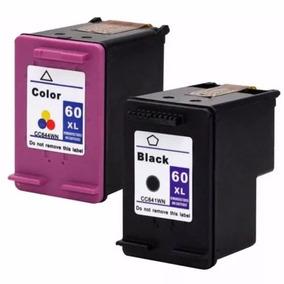 Kit Cartucho Compatível Hp 60xl Preto E 60xl Color Novo