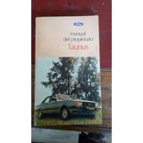 Manual Del Propietario Ford Taunus Años 80