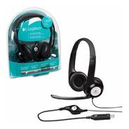 Auricular Con Micrófono Headset Usb Logitech H390 Envio S/c