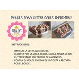 Moldes Para Tortas De Letras Letter Cakes Imprimibles Tortas