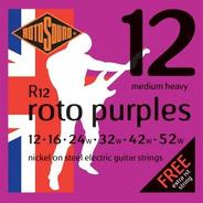 Encordado Para Eléctrica Rotosound Roto Purples R12 012-052