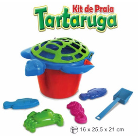Kit 25 Baldinhos Tartaruga Praia Brinquedo Balde Criança
