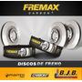 Kit 2 Disco Freno Fremax Del Vw Golf 3 1.8 96-98 Sólido 256m