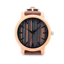 Vogue Relógio De Quartzo De Madeira Pul De Couro+fretegratis