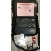 Notebook Toshiba Antigo Coleção Disquete Funciona Completo