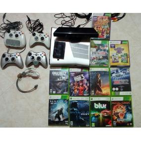 Xbox 360 Slim +4controles+250gb+56juegos Originales+kinect
