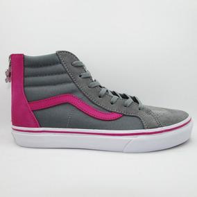 Tenis Vans Casual Sk8-hi Zip Flower Pink Gray Vn-0a3276oe3