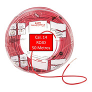 Bolsa 50 Mts Cable Iusa Rojo Thw Cal 14 Awg 100%cobre