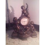 Reloj De Mesa Antiguo 100% Bronce Made In Germany, Quartz.