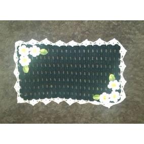 Tapete De Croché 36x61 Feito A Mão