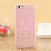 Funda Minnie Moño 3d Rosa Jelly Case Iphone 6 Plus Y 6s Plus